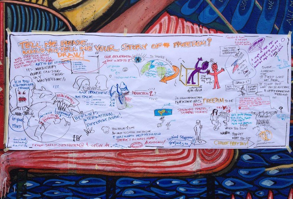 Közösségi rajz-hogy valóban résztvevők legyenek, akik eljöttek a rendezvényedre.